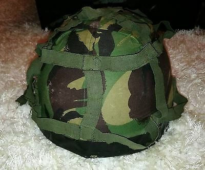 Genuine British Army Helmet with Covers Sz Large Military Camo Reenactment