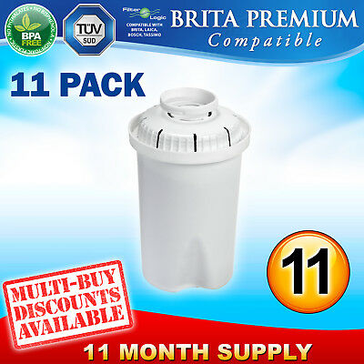 11 x FL601 Replacement Water Filter Compatible with Brita Classic Jug Cartridge