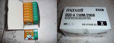 8 x  MAXELL TAPE DATA CARTRIDGE DDS4 DAT 150M / 20GB