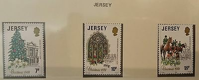 LOTTO francobolli di Natale 1981 JERSEY  Christmas stamps lot