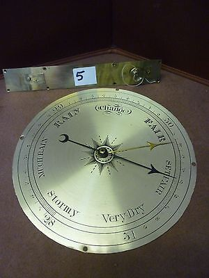 Original Antique Banjo Barometer 8ins Signed Dial Hands And Interior Pully(5)