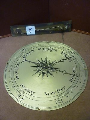 Original Antique Banjo Barometer 8ins Signed Dial Hands And Interior Pully(8)