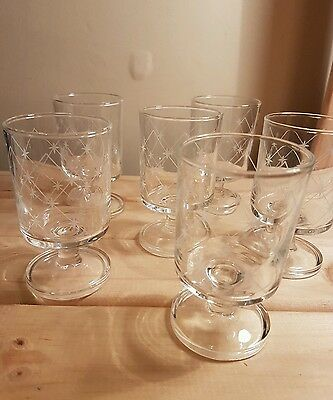 Set of 6 Small Sherry/Port glasses in very good condition
