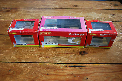 Lot Of 3 N Gauge Railway Buildings Hornby Lyddle End Coal Hopper 2 X Garden Wall