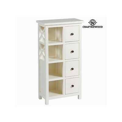 S0101769 White cabinet with 3 drawers - Franklin Collection by Craften Wood