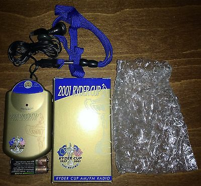 2001 Ryder Cup Radio Very Rare - This tournament was postponed for a year