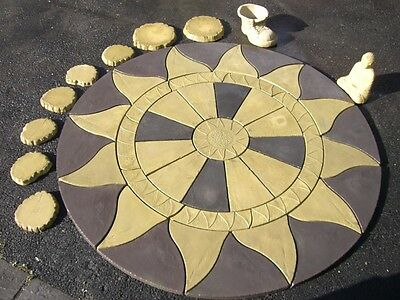 AZTEC SUN CIRCLE Garden Patio Paving Stones other slabs colours available