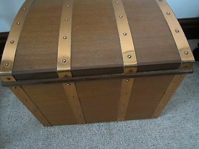 Teak Chest Log /coal Box With Liner