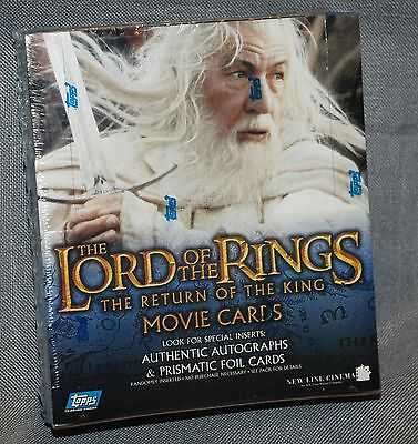 TOPPS LOTR Lord of the Rings RETURN OF THE KING Factory Sealed Box