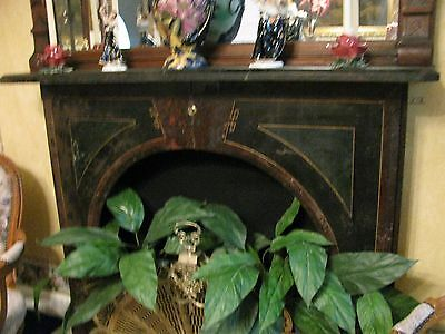 Victorian Slate Mantle with Original Faux Finish
