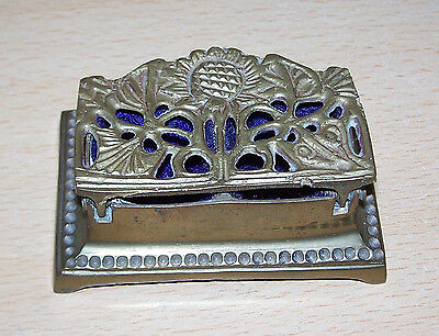 Vintage brass stamp box collectible
