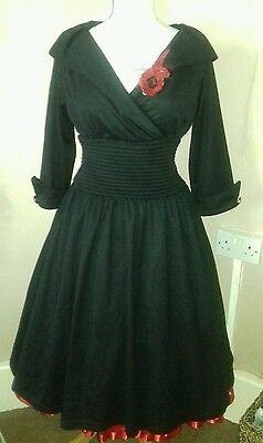 pin up 50s dress 12 rockabilly Grace Kelly's or Audrey Hepburn's style