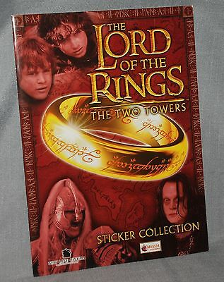 Lord of the Rings LOTR The Two Towers Sticker Collection Book MERLIN STICKERS