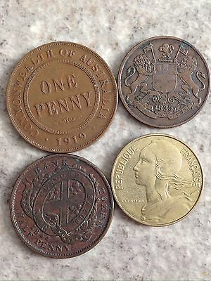Lot Of (4) Foreign Coins, Very Nice