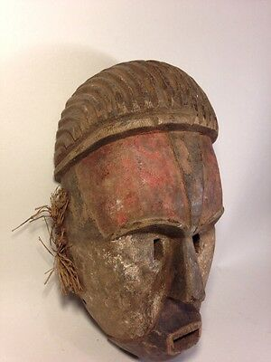 Authentic Art African  Sogo Gabon Hands Carved Wooden Mask / Statue