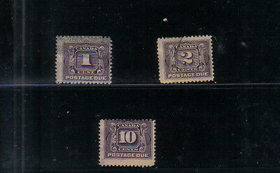 Canada 1906-28 Postage Dues Three values to 10c used