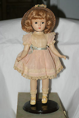 "Vintage All Original 14"" Hard Plastic Margaret O'Brien Doll In Original Box"