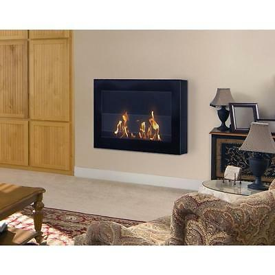 Anywhere Fireplace SoHo Black Wall Mount Fire Place Model # 90200