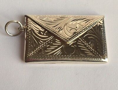 Solid Silver Art Nouveau Style Double Stamp Case