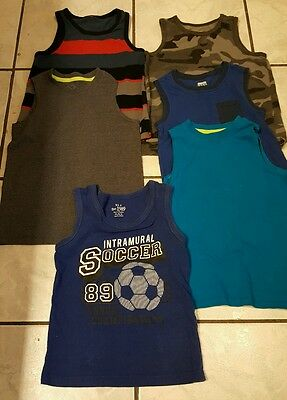 boys size 4 /5 tank tops *lot of 6* FREE SHIPPING