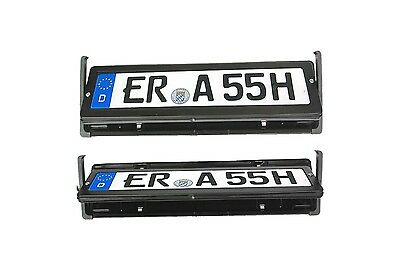 Euro Metal High QUALITY License plate number FLIPPER cover shifter hide rotate