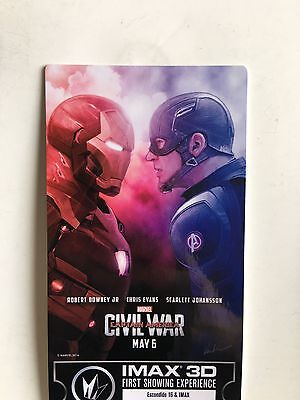 Marvel CAPTAIN AMERICA Civil War IMAX Limited Edition COLLECTABLE Movie Ticket