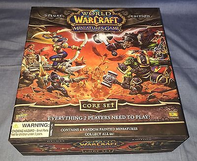 World of Warcraft Miniatures Game Deluxe Edition Core Set Upper Deck UNUSED