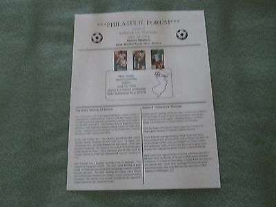 1994 World Cup Soccer Stamps, First Day Issue, Ireland vs Norway; Giants Stadium