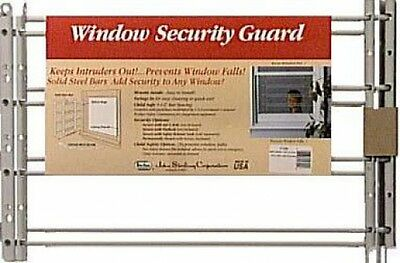 "Knape & Vogt John Sterling Window Security Guards 11"" Steel White 3/8"" Dia."