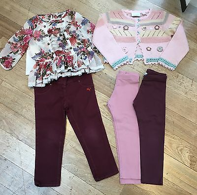 Next Girls Bundle. Floral Blouse,Jeggings, Leggings & Cardigan. Age 2-3 Years.