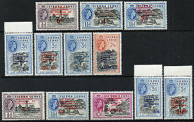 Commonwealth Sierra Leone 1963 QEII 2nd Year of Independence set to 11s LMM