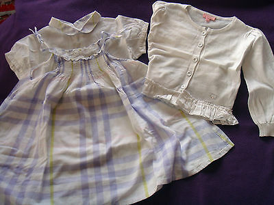ensemble fille ~~  2 ans  ***BURBERRY - ESCADA*** (robe, chemisier, gilet)