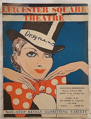 Vintage LEICESTER SQUARE Theatre NON STOP REVELS VARIETY 1933 Programme
