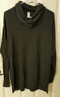 Old Navy Sweater Maternity dark Gray Cowl Neck Nwot large lg brand new
