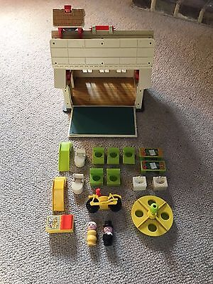Fisher Price vintage School with figures and furniture