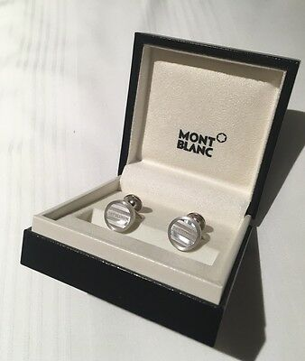 Mont Blanc Sterling Silver and Mother Of Pearl Cufflinks over £300 new