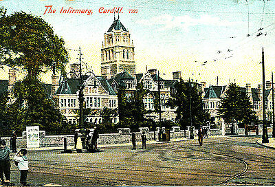 GLAMORGANSHIRE : 1909 Postcard of The Infirmary, Cardiff