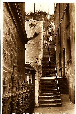CORNWALL - 1920/30s RP Postcard of Jacobs Ladder. Falmouth