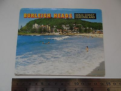 1 x OLD RETRO BURLEIGH HEADS QUEENSLAND COLLECTABLE PICTURE POSTCARD BP39