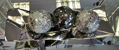 Funky Chrome Angle Tray with 3 x Mosaic Glass Balls