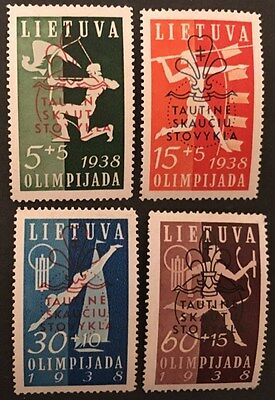 LITHUANIA. 1938. Scout & Guide National Camp Fund. Hinged Mint Stamp Set.