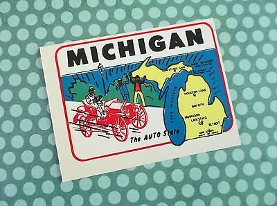 Vintage State of Michigan Windshield Decal