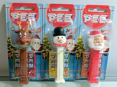 Christmas Pez Dispensers x 3