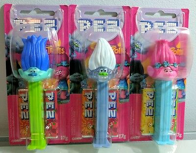 Trolls Pez Dispensers x 3