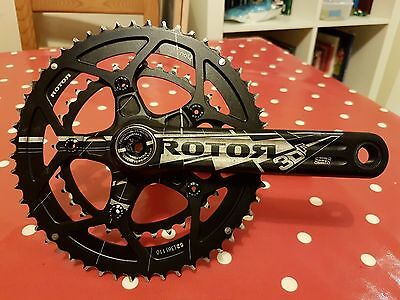 Rotor 3D F Mid Compact Crankset Chainset - BB30 - 52/36 - 172.5mm - RRP £429.99