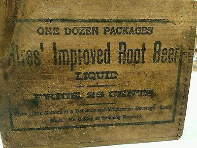 Antique Wood Hires Rootbeer Extract Crate