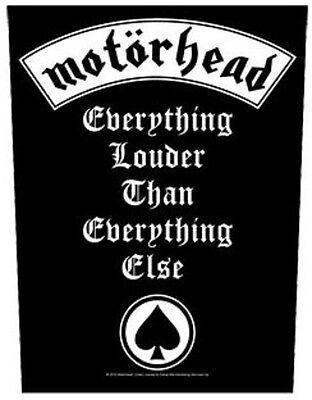 Motorhead BACK PATCH New Official Everything louder