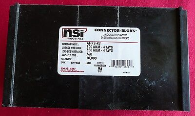 New NSI Industries AL-R2-R2 Power Distribution and Terminal Block 500MCM-4 AWG