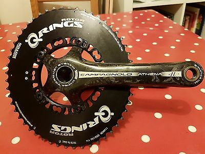 Campagnolo Athena Carbon Q Ring Mid Compact Crankset - 52/36 - 175mm - RRP £420