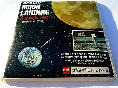 ViewMaster B663 NASA Apollo Project Moon Landing 1969 3 Reel Set Complete